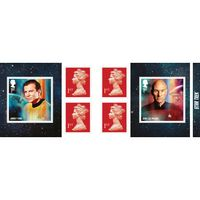 View more details about 1st Class Stamps x 6 Pack - (Postage Stamp Book) Star Trek