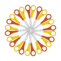 12 x Westcott Left-Handed Children's Scissors 130mm in Yellow and Orange. Aged 4 and above - E-21593 00