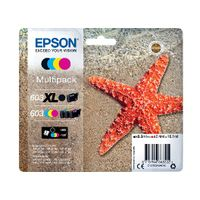 View more details about Epson Starfish 603XL Black/603 CMY Ink Multipack C13T03A94010