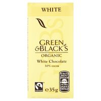 Green and Black's 35g White Chocolate Bars, Pack of 30 - 611637