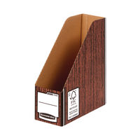 View more details about Bankers Box Premium Magazine File-Woodgrain (Pack of 5) 723303