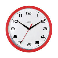 View more details about Acctim Aylesbury Red Wall Clock - 92/303