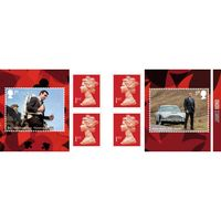 1st Class Stamps x 6 Pack - (Postage Stamp Book) - James Bond