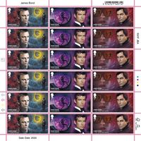 1st Class Stamps x 18 - James Bond