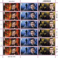 £1.60 Stamps x 18 - James Bond