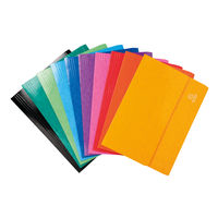 Iderama Assorted A4/Foolscap Pocket Wallets 265gsm, Pack of 25 - 6500Z