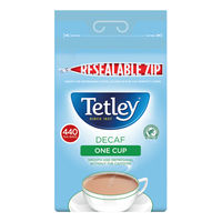 View more details about Tetley One Cup Decaffeinated Tea Bags (Pack of 440) 1800A