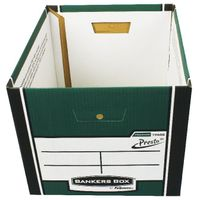 Fellowes Green Bankers Box Premium Presto Storage Box, Pack of 10+2 - 00730-FF
