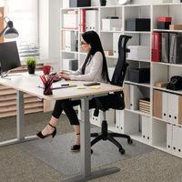 View more details about Floortex Polycarbonate Rectangle Carpet Chair Mat 1190x890mm 118923ER