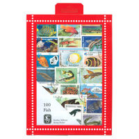 Fish Stamps Collection, 100 Stamps - R3657
