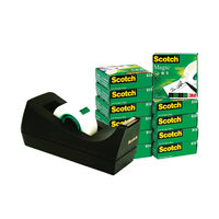 View more details about Scotch Magic Tape 810 19mm x 33m (Pack of 12) with Free Dispenser SM12
