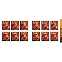 1st Class Stamps x 12 Pack (Postage Stamp Book) Christmas 2019