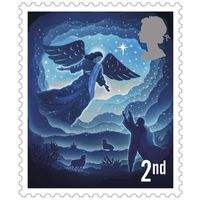 2nd Class Stamps x 50 (Self Adhesive Stamp Sheet) Christmas 2019