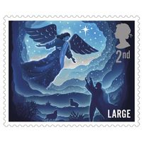 2nd Class Large Stamps x 50 (Self Adhesive Stamp Sheet) Christmas 2019