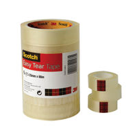 Scotch 19mm x 33m Clear Easy Tear Tapes, Pack of 8 - ET1933T8