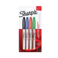 Sharpie Fine Assorted Bullet Tip Permanent Markers, Pack of 4 - S0750180