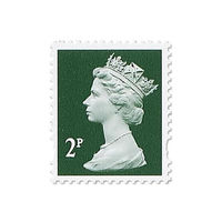Royal Mail 2p Postage Stamps x 25 Pack (Self Adhesive Stamp Sheet)