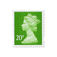Royal Mail 20p Postage Stamps x 25 Pack (Self Adhesive Stamp Sheet)