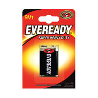 View more details about Eveready Super Heavy Duty Battery 9V 6F22BIUP