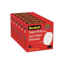 Scotch Super Hold 19mm x 25.4m Clear Tapes, Pack of 6 - 7000K6-EU