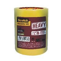 Scotch Tape - Heavy Duty 50mmx66m Clear Packaging Tape HV.5066.T3.T (Pack of 3)