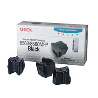 View more details about Xerox Phaser 8560 Black Solid Ink Stick (Pack of 3) 108R00726