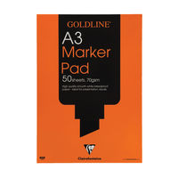 View more details about Goldline A3 Marker Pad, 50 Sheets - GPB1A3