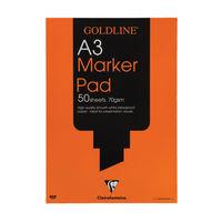 Goldline A3 Marker Pad, 50 Sheets - GPB1A3