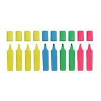Assorted Hi-Glo Highlighter Pens, Pack of 10 - 8440PK10