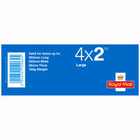2nd Class Large Stamps x 4 Pack - (Postage Stamp Book)