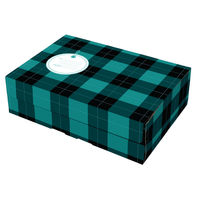 Green Tartan Small Gift Mailing Box <TAG>BESTBUY</TAG>