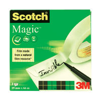 View more details about Scotch Magic Tape 810 Solvent-Free 19mmx66m Transparent 8101966