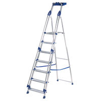 View more details about Werner Blue Seal 7 Tread Professional Aluminium Step Ladder 7050718