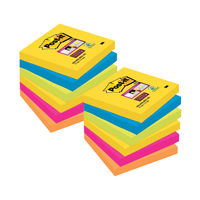 View more details about 3M Post-It 76x76mm Rio Assorted Super Sticky Note Pads (2 Packs & 1 Free) – 3M81
