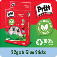 View more details about Pritt Stick Medium 22g, Pack of 6 - HK2234