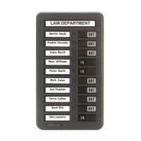 View more details about Indesign 10 Names In/Out Board Grey WPIT10I