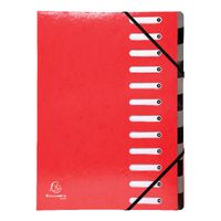 Iderama 12 Part File, Red - 53925E