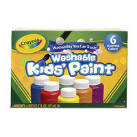 View more details about Crayola Washable Kids Paint Colours (Pack of 36) 54-1204