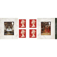 1st Class Stamps x 6 (Postage Stamp Booklet) - Hampton Court Palace - UB416