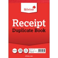Silvine Carbon Receipt Duplicate Book, 100 Pages (Pack of 12) - 230