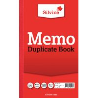 Silvine Carbon Memo Ruled Duplicate Book, 100 Pages (Pack of 6) - 601