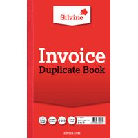 Silvine Carbon Invoice Duplicate Book, 100 Pages (Pack of 6) - 611