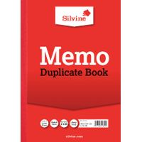 View more details about Silvine Carbon Memo Ruled A4 Duplicate Book (Pack of 6) - 614-T