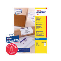 View more details about Avery Inkjet Address Labels 14 Per Sheet Wht (Pack of 1400) J8163-100