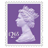 Royal Mail £2.65 Postage Stamps x 25 Pack (Self Adhesive Stamp Sheet)