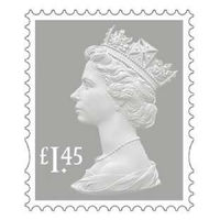 Royal Mail £1.45 Postage Stamps x 25 Pack (Self Adhesive Stamp Sheet)
