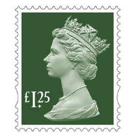 Royal Mail £1.25 Postage Stamps x 25 Pack (Self Adhesive Stamp Sheet)