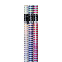 View more details about Assorted Striped Foil Gift Wrap, Pack of 36 - 26310-GW