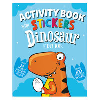 View more details about Dinosaur Activity Book with Stickers (Pack of 12) 26064-DINO