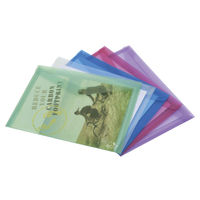 Rapesco Assorted A4 Eco Popper Wallets, Pack of 5 - 1039